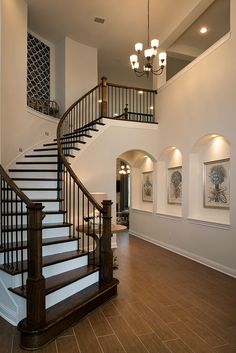 Trendy Ideas For Home Design Interior Stairs Dream House Interior, Interior Stairs, Dream Home Design, My Dream Home, Home Interior Design, House Design, Interior Modern, Kitchen Interior, House Staircase