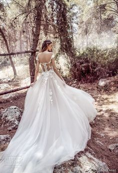 galia lahav gala 4 2018 bridal cap sleeves sweetheart neckline heavily embellished bodice tulle skirt romantic princess a line wedding dress mid lace back royal train (902) bv -- Gala by Galia Lahav 2018 Wedding Dresses