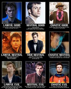 10th Doctor alignment. I love it when geeks collide.