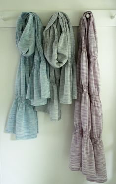 Ooh, great for sewers: Tutorial for DIy smocked summer scarves. These would be a fortune at department stores!