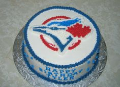 Toronto Blue Jays Birthday Cake Birthday Party Treats, 3rd Birthday, Happy Birthday, Birthday Parties, Cupcake Cakes, Cupcakes, Cake Decorating, Decorating Ideas, Cake Ideas