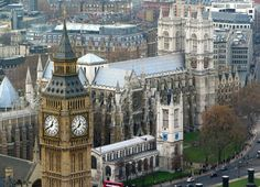 Aerial photo of Westminster Abbey