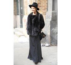 Street Looks, New York Fashion Week, Day 2, FW2014, Giovanna Battaglia, Anna Ewers, Garance Doré, Caroline Issa, Chanel, Givenchy, Louis Vui...