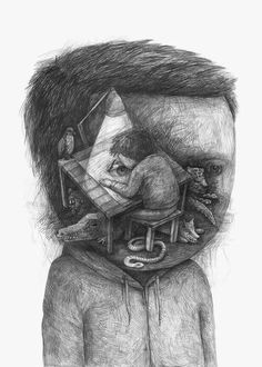 """Art is the highest form of hope."" — Gerhard Richter  [illustration: Stefan Zsaitsits]"