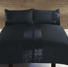 Razzle Black Duvet Cover Set - King Size