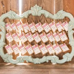 Vintage Ideas Hang pictures from this ornate vintage frame at your reception for a personable touch. - Hang pictures from this ornate vintage frame at your reception for a personable touch. Chic Wedding, Wedding Table, Wedding Favors, Rustic Wedding, Wedding Ideas, Wedding Signage, Wedding Burlap, Hipster Wedding, Wedding Souvenir