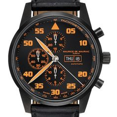 MAURICE DE MAURIAC. Chronograph Modern XL 813.08. Automatic with a Valjoux 77.50 movement and a 45mm titanium case. Wow. I mean it. Wow.
