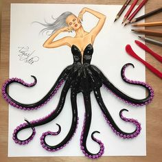 """Ursula from """"The little mermaid""""  Hope you like my version of fancy Ursula  Go watch how I made Ursula on my YouTube channel. Link is in my Bio"""