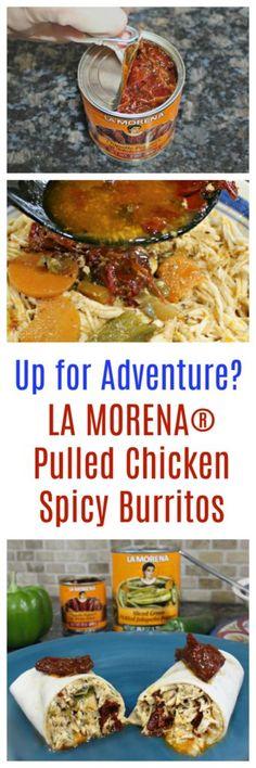 AD - Recipe for Spicy Chipotle Pulled Chicken Burritos with LA MORENA® ow.ly/FnVK30dKIYz #VivaLaMorena #RediscoverLaMorena La Morena @SoFabFood