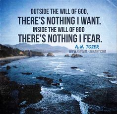 A W Tozer: outside the will of God