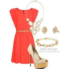 gorgeous dress, complimented with the Stella and Dot Fiona bib necklace, Christina link bracelet and Eden studs