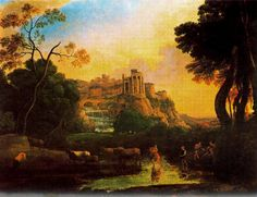 Claude Lorrain Paintings | Claude Lorrain - Imaginary view of Tivoli