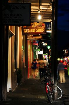 Gumbo Shop, New Orleans La French Quarter. Voted best chicken gumbo by locals. Good red beans and rice, shrimp creole, and jambalaya too