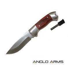 Pakkawood Survival Knife, Firestarter & Sheath | KnifeWarehouse.co.uk