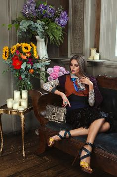 Olivia Palermo Graces Velvets September 2012 Issue by Luc Coiffait
