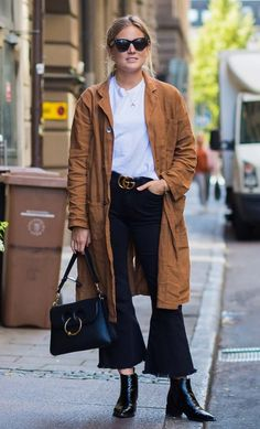 A Gucci belt. See more street style from Stockholm Fashion Week. Photographed by Photographed by Acielle / Style du Monde.