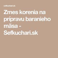 Zmes korenia na prípravu baranieho mäsa - Sefkuchari.sk