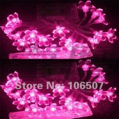 20 LED PINK Flower Battery Outdoor String Light Christmas decoration hot sell (10pcs per lot)-in Christmas Decoration Supplies from Home  Garden on Aliexpress.com $90.00