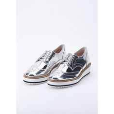 Sneakers - Oxford Lace Up Silver - silver - Sneakers for ladies Prada Clearance Prices Cheapest Sale Online Deals Cheap Price Amazon For Sale Discount Wide Range Of 3wYtkYGgE