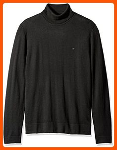 Calvin Klein Men's Merino Tubular Roll Neck Sweater, Black, 2X-LARGE - Mens world (*Amazon Partner-Link)