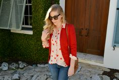 Valentine's Day Outfit Idea - Polka Dot Blouse