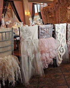 Now this is the stuff wedding dreams are made of! A fairy tale New Orleans wedding with beautiful and romantic, mix-n-match reception chair covers. Wedding Reception Chairs, Wedding Table, Mod Wedding, Dream Wedding, Wedding Dreams, Elegant Wedding, Chair Cover Rentals, Wedding Chair Decorations, Luxury Chairs