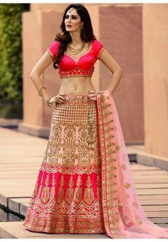Bruna Abdullah Pink Art Silk Lehenga