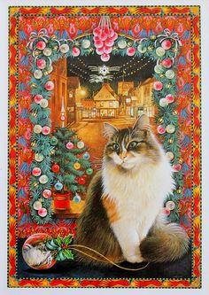 Кошке, кошкою, о кошке... Художница Лесли Энн Ивори (Lesley Anne Ivory).. Обсуждение на LiveInternet - Российский Сервис Онлайн-Дневников