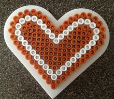 Christmas gingerbread heart ornament hama perler beads By Alice - Vickan