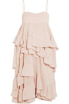 Chloé Ruffled cotton-gauze dress | NET-A-PORTER