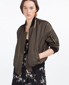 Image 2 of QUILTED BOMBER JACKET from Zara