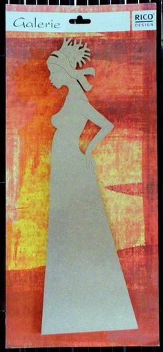 Rico Design Galerie Holzdeko Afrikanerin für Acryl Malerei Bastelartikel