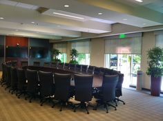 Motorized Shades in Board Room  www.windowproductsmanagement.com Motorized Shades, Conference Room, Board, Table, Furniture, Home Decor, Decoration Home, Room Decor, Tables