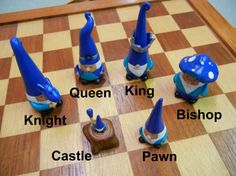Gnome Chess Set fantasy chess gnome battle by TheSilverBranch  http://www.roleplaying.company