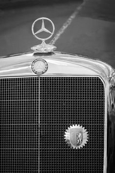 1929 Mercedes Benz Ss Barker Roadster Hood Ornament By