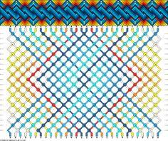 Friendship bracelet pattern 70196 -  30 strings, 11 colours new