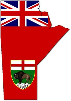 Flag-map of Manitoba