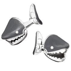 Grey Moving Shark Jaw Cufflinks