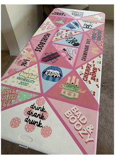 Custom Beer Pong Tables, Bomb Drinks, Br House, Drinking Games For Parties, Little Presents, Diy For Girls, Ping Pong Table, Diy Table, Hand Painted