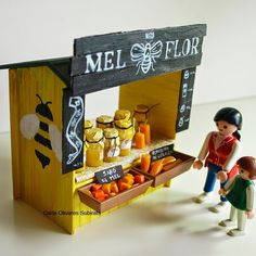Craft Stick Farmer's Market Stand (Diy Muebles Miniatura)
