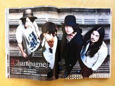 [Champagne] 2012/6/21「MUSICA」7月号 VOL.63/みんなが[Champagne]に求めるものって凄くわかるし、やろうと思えばできるんですよ。でも、それをやり続けたら、バンドは5年でダメになってしまう。 期待されてるからこそ、誰も想像してないものを作りたい。現状で止まってちゃダメなんですよ。