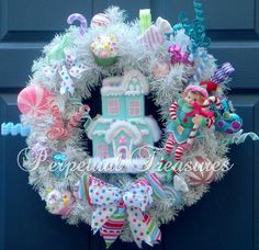 Christmas Candy Wreath Sweets & Treats by PerpetualTreasures2