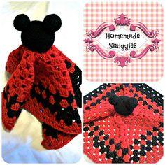 $6--Ravelry: Mickey Mouse Lovie pattern by Christina Brady
