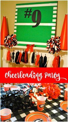 My Parties: Reagan's 9th Birthday Cheerleading Party