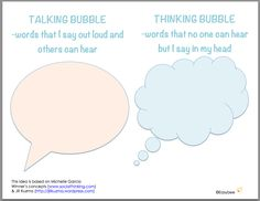 Talking Bubbles and Thinking Bubbles
