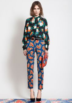 our favorite pattern-mixing outfit from MSGM
