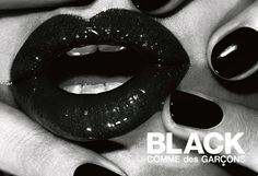 black nails are always classy. comme des garcons.