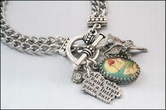 Peter Pan Charm Bracelet, Tinkerbell Charm Bracelet, Peter Pan Jewelry, Tinkerbell Jewelry. $43.00, via Etsy.