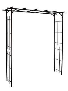 Louis Moulin Grande Pergola tube carré pour Plante grimpante Fer vieilli 187 x 40 x 198 cm 3036