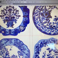 "Working on a fun eclectic dinnerware collection today for one of my best clients. Can't wait to see…"" www.jackievontobel.com"